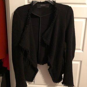 Zara Black Fringed Blazer